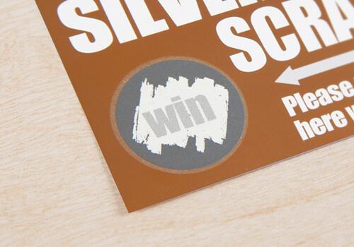 銀スクラッチカード