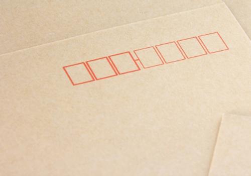 「郵便はがき」・「POST CARD」を表示する